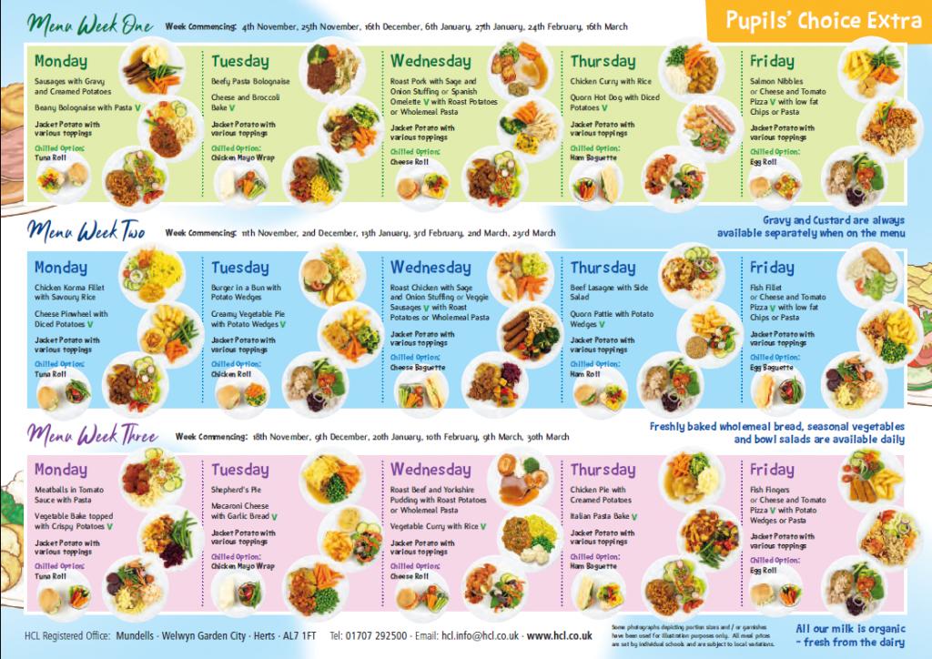 Image result for hcl menu